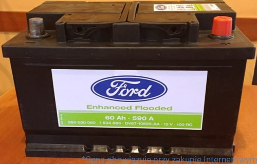 akumulator 60ah 590 a system start stop 1917575 ford abc focus. Black Bedroom Furniture Sets. Home Design Ideas